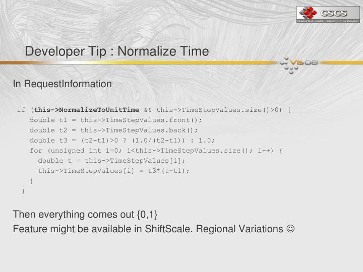 Developer Tip : Normalize Time