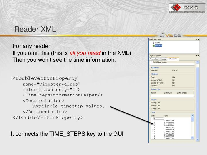 Reader XML