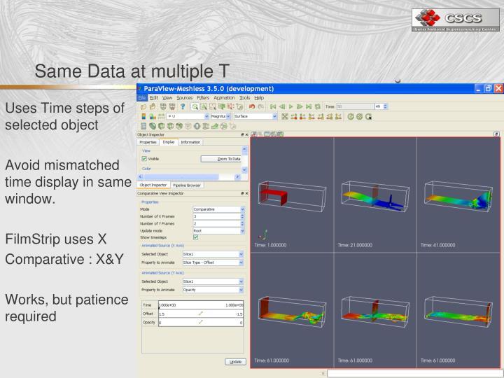 Same Data at multiple T