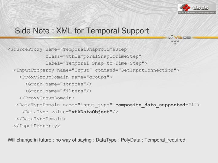 Side Note : XML for Temporal Support