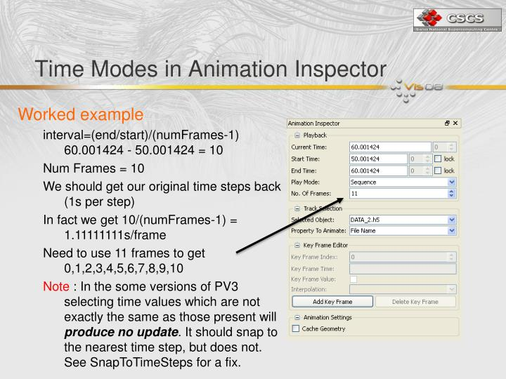 Time Modes in Animation Inspector