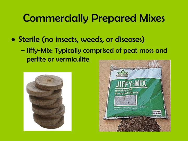 Commercially Prepared Mixes