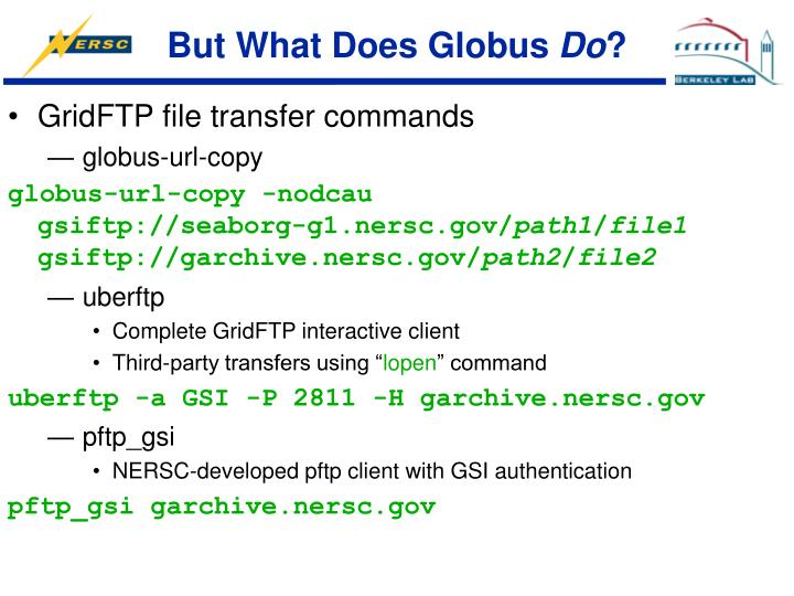 But What Does Globus