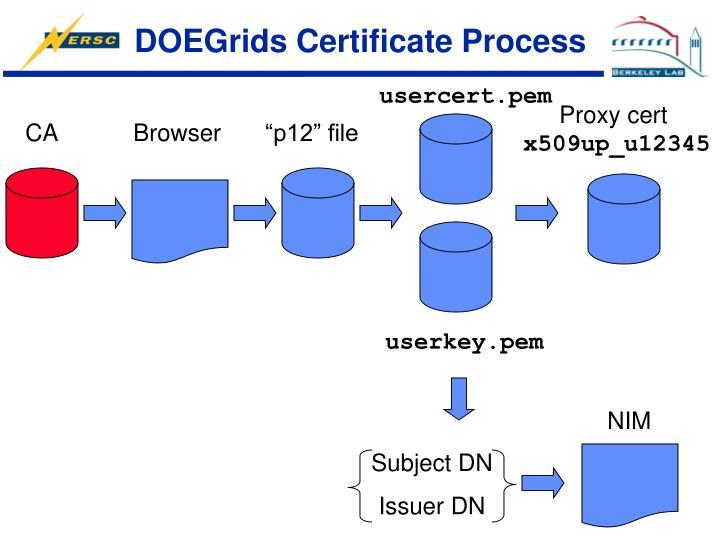 DOEGrids Certificate Process