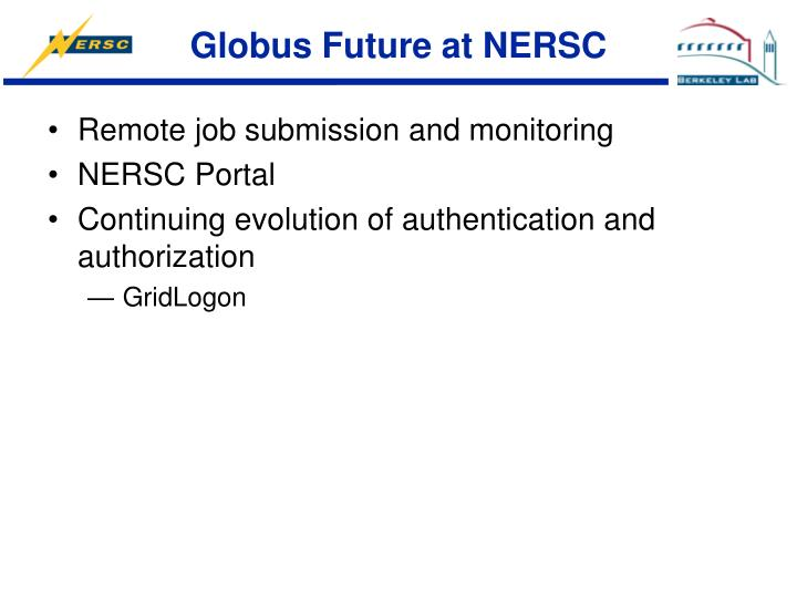 Globus Future at NERSC