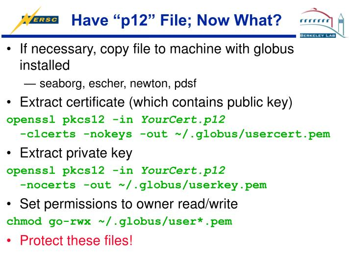 """Have """"p12"""" File; Now What?"""
