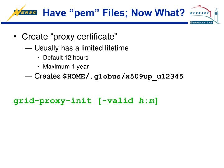 """Have """"pem"""" Files; Now What?"""