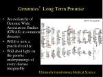 genomics long term promise