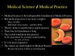 medical science medical practice