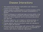 disease interactions