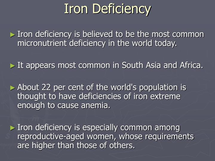 Iron Deficiency