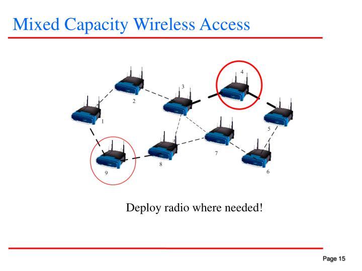 Mixed Capacity Wireless Access