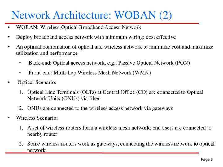 Network Architecture: WOBAN (2)