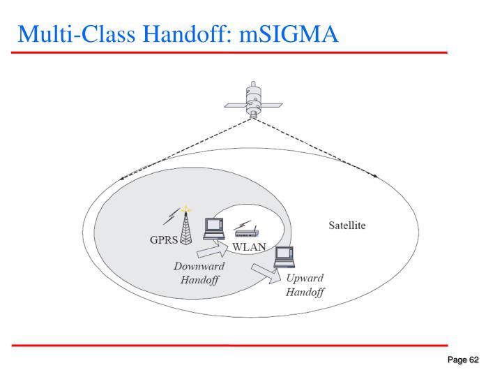 Multi-Class Handoff: mSIGMA