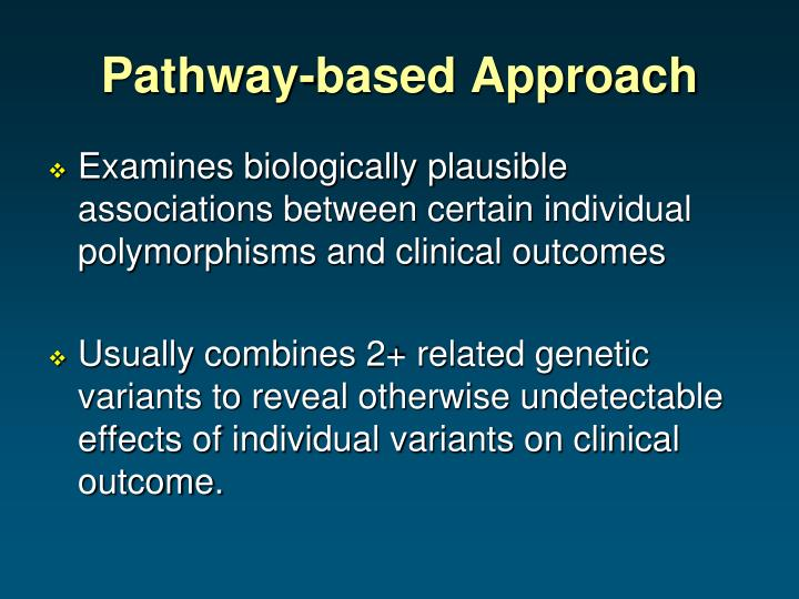 Pathway-based Approach