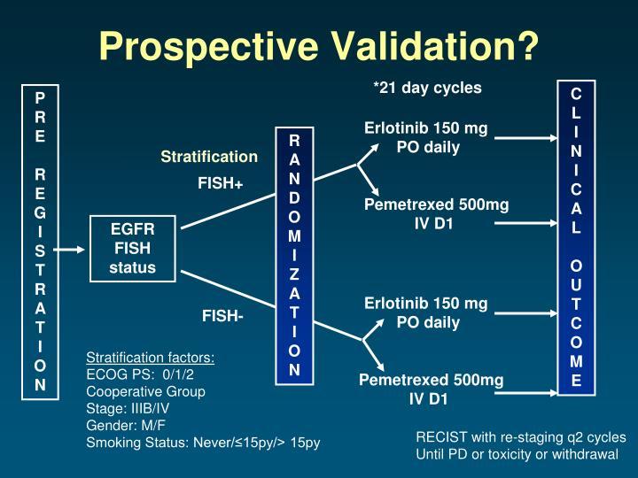 Prospective Validation?