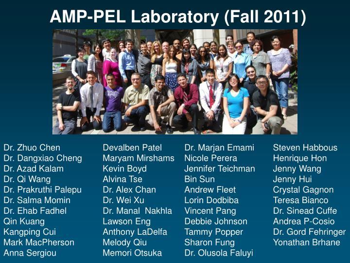 AMP-PEL Laboratory (Fall 2011)