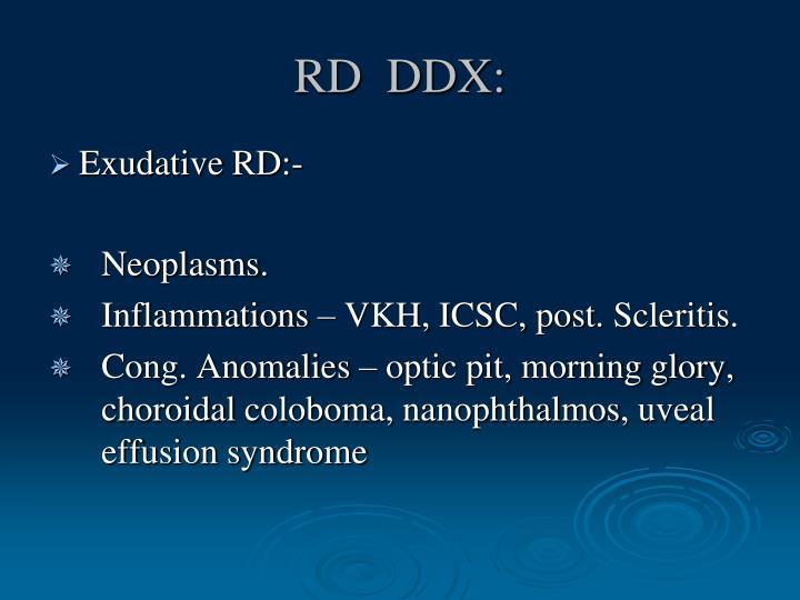 RD  DDX: