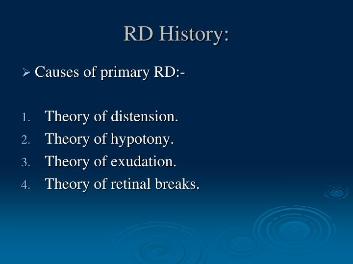 RD History: