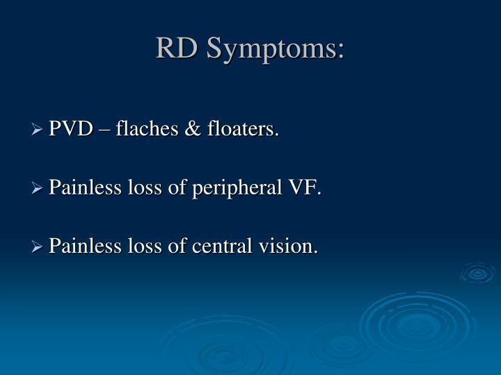 RD Symptoms: