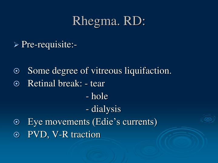 Rhegma. RD: