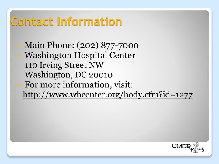 Main Phone: (202) 877-7000