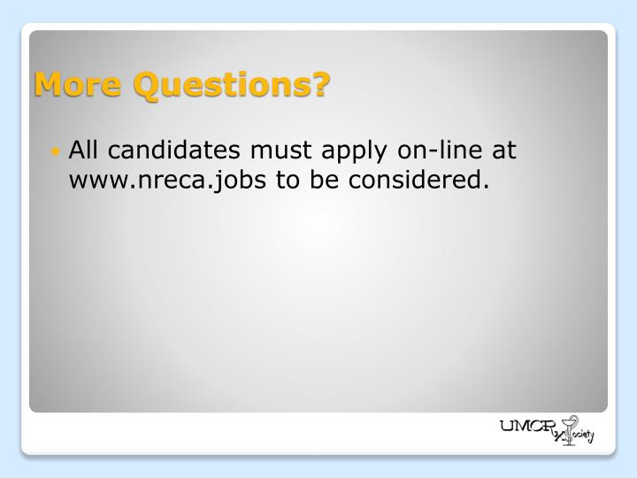 All candidates must apply on-line at www.nreca.jobs to be considered.