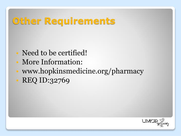 Need to be certified!
