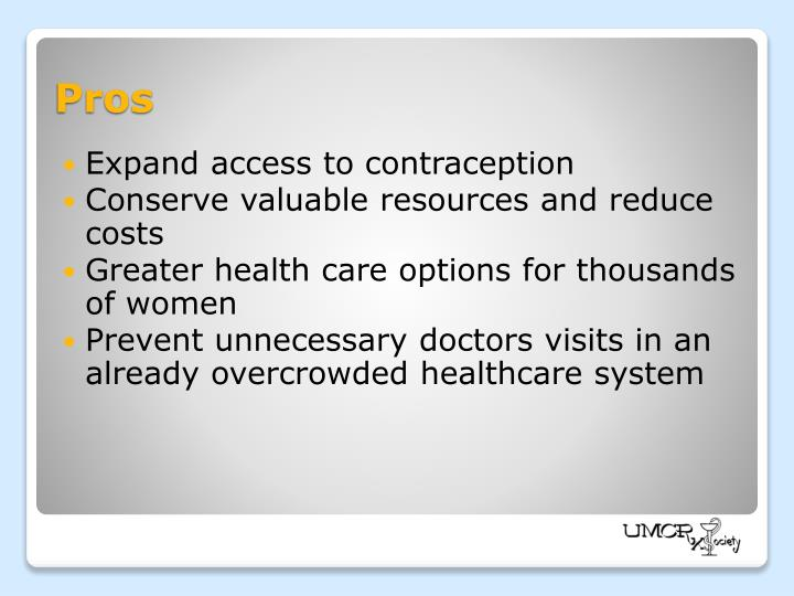 Expand access to contraception