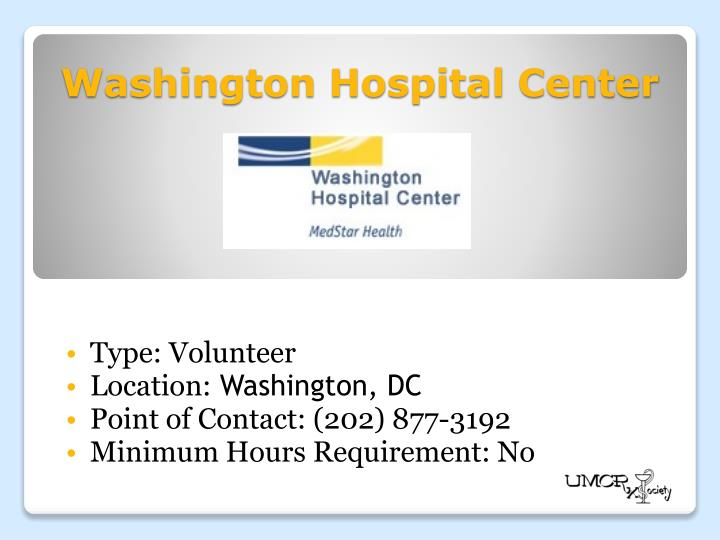Washington Hospital Center