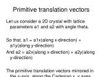 primitive translation vectors