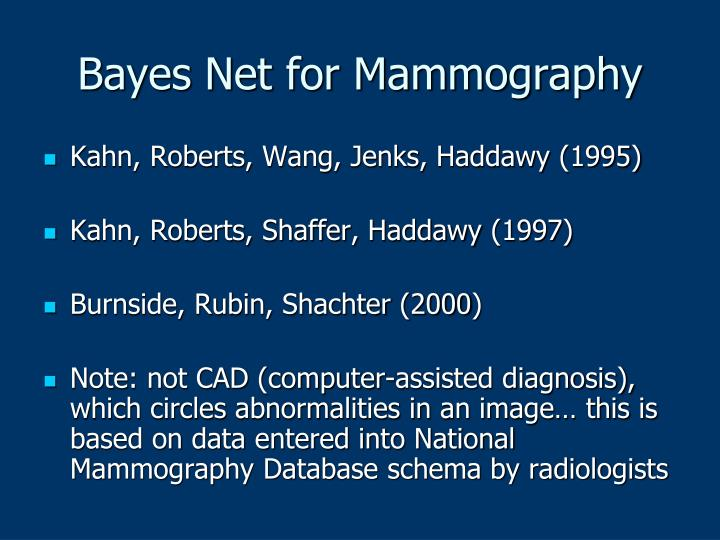 Bayes Net for Mammography