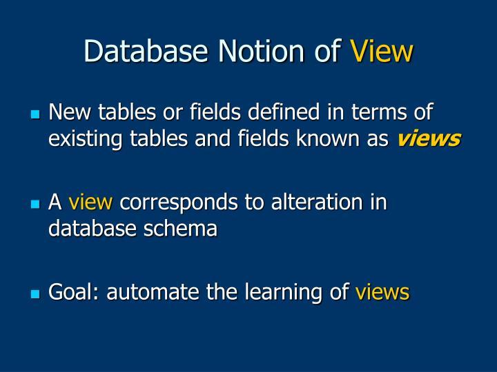 Database Notion of