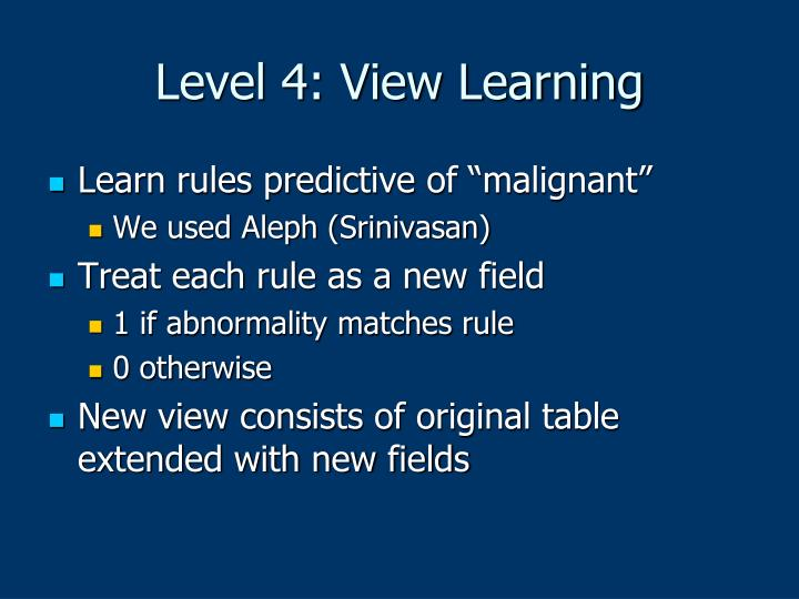 Level 4: View Learning