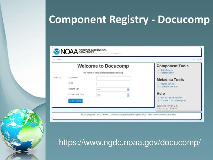 Component Registry - Docucomp
