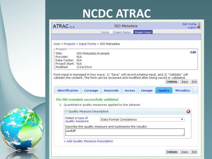 NCDC ATRAC