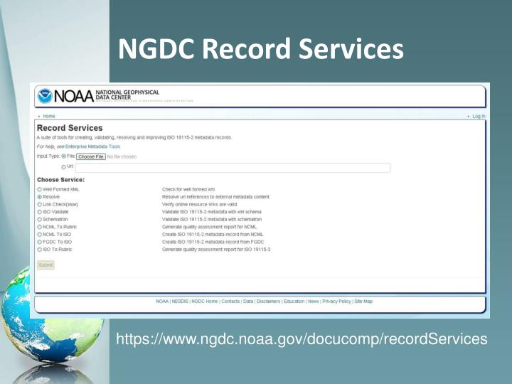 NGDC Record Services