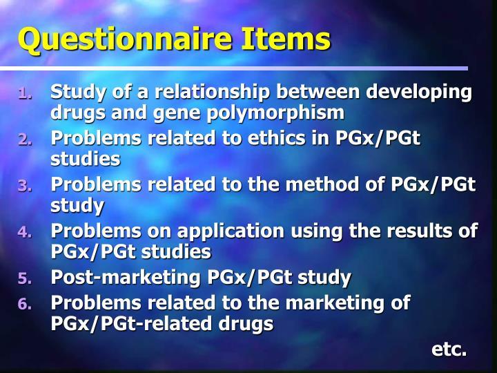 Questionnaire Items