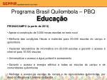programa brasil quilombola pbq5