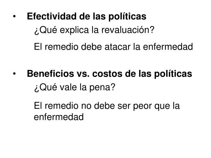 Efectividad de las políticas