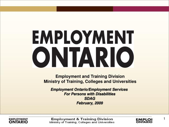 Employment and Training Division