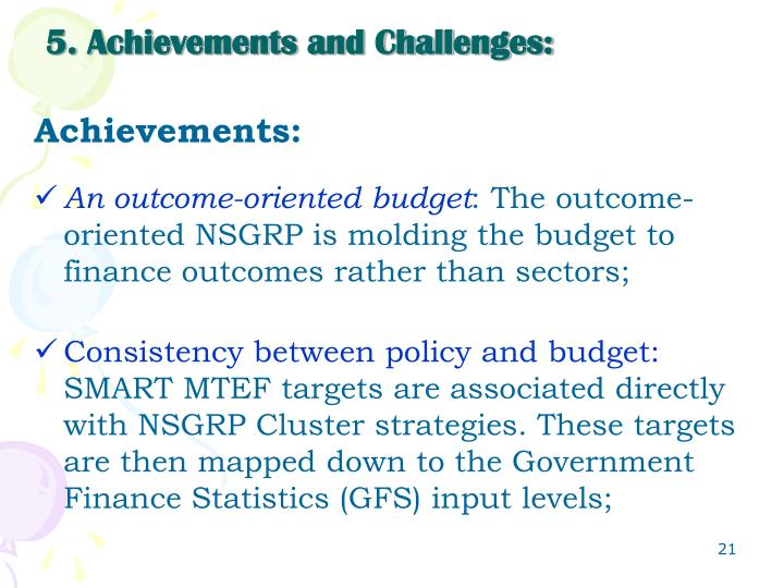 5. Achievements and Challenges: