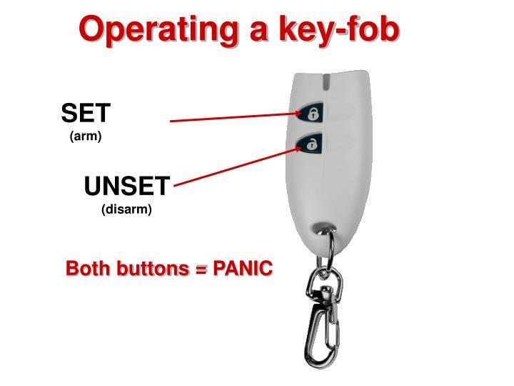 Operating a key-fob