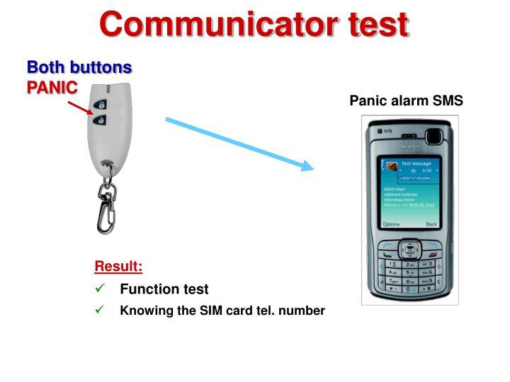 Communicator test