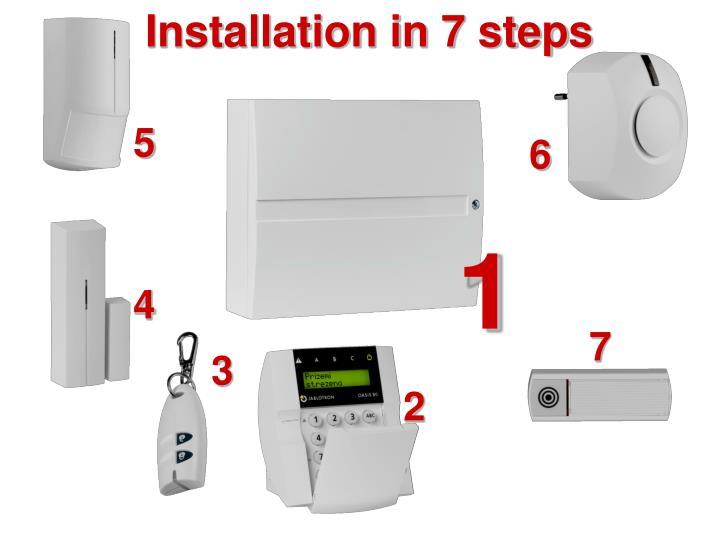 Installation in 7 steps