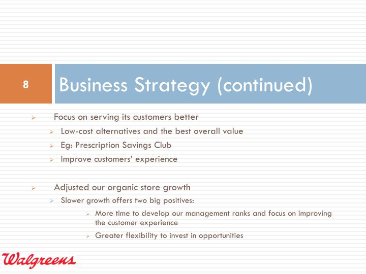 Business Strategy (continued)