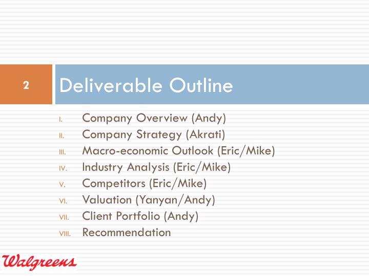 Deliverable Outline
