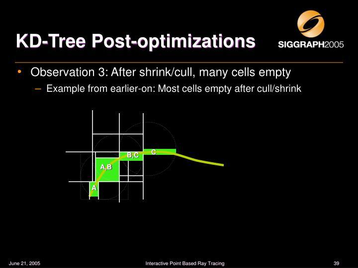 KD-Tree Post-optimizations