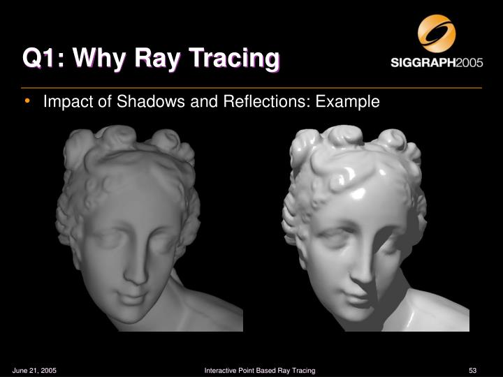 Q1: Why Ray Tracing