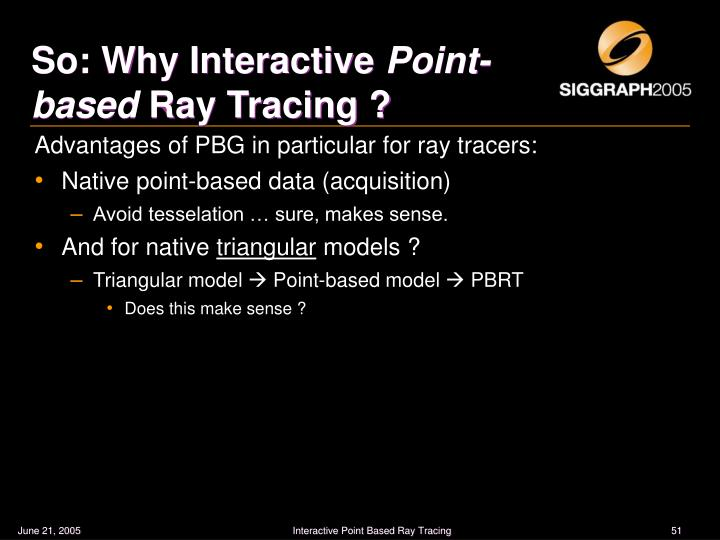 So: Why Interactive